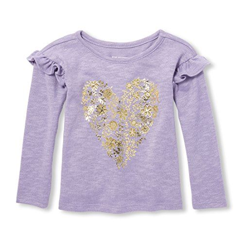 The Children's Place Girl's Long Sleeve Ruffle Top Cotton Cardigan