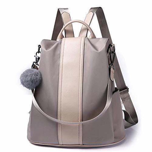 Diving Deep Girl's Water Resistant Nylon Anti-Theft School Backpack, Grey