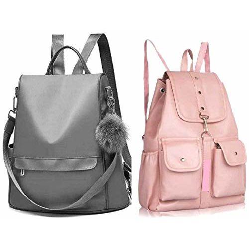SAHAL PU Leather Backpack School Bag Student Backpack Women Travel bag Collage Bag Tution Bag 10 L Backpack
