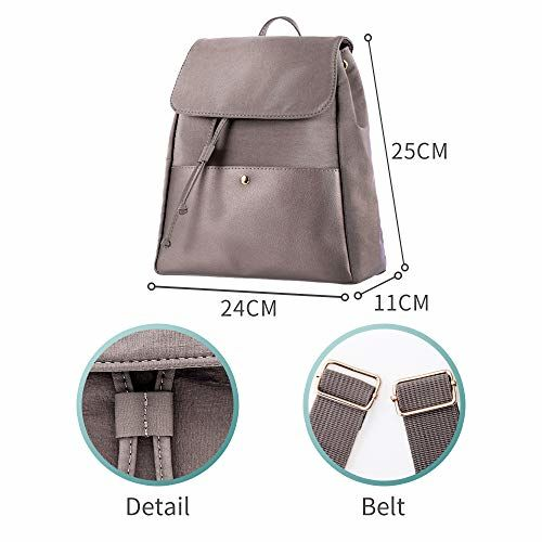 MINISO Pink Simple Drawstring Casual Backpack