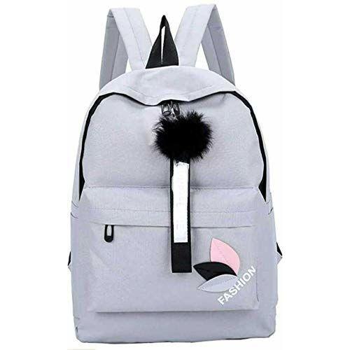 POSSHUSA Stylish Grey Collage Backpack