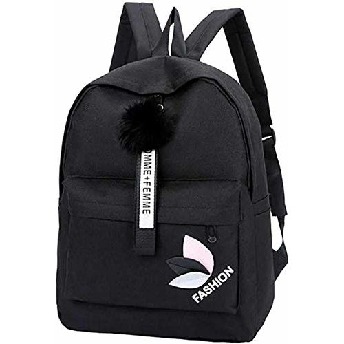 Posshusa Black Stylish College Backpack