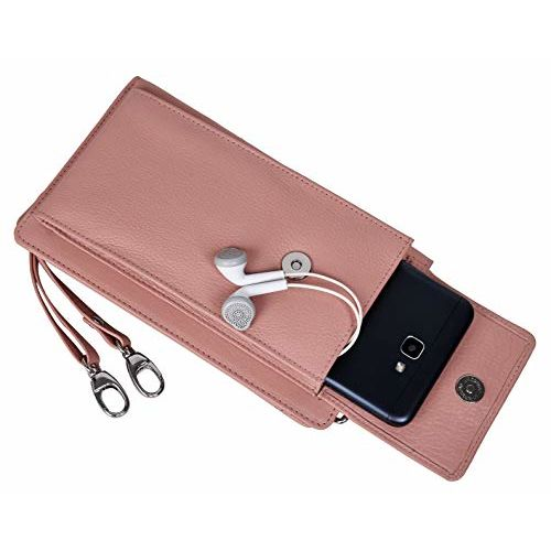 Urban Forest Ruby Pink Leather Sling Wallet for Women