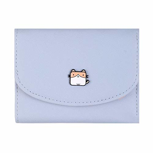 MINISO Blue Cute Wallets with Small Card Holders