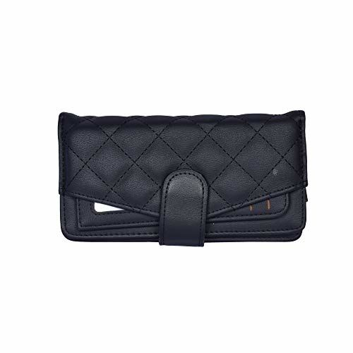 Bag Pepper Pu Leather Wallet for Women Girl's Purse Handbag Clutch Bags (Black)