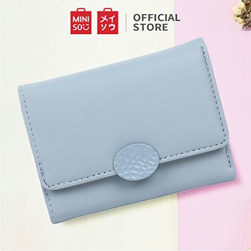 MINISO Blue Multiple Pockets Tri Fold Short Wallet