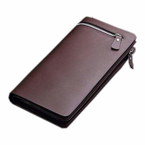 Storin Brown Long Luxury Credit Card Holder Wallet