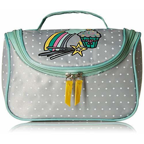 MAX Grey PU Printed Vanity Bag