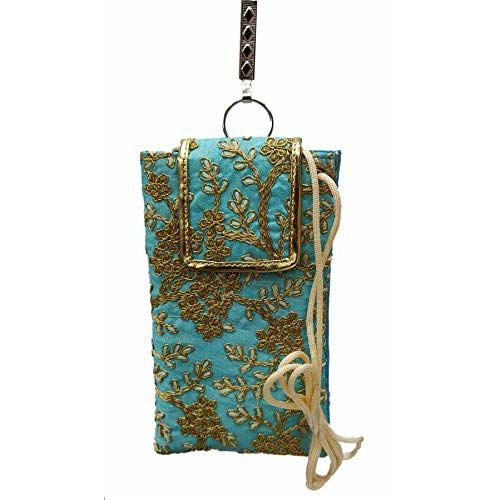 STYLO G Sky Blue Designer Embroided Mobile Phone Pouch