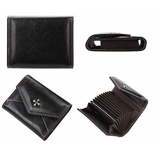 Farraige Black Fashion PU Leather Women Card Holder Wallet