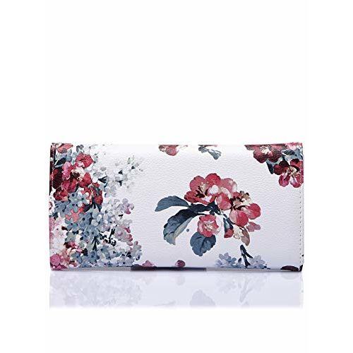 Caprese Women's Wallet (White Floral)