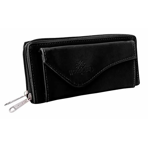 Tap Fashion Black Leather Multi Pocket Wallet