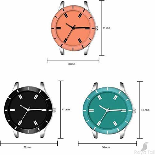 Acnos Special Super Quality Analog Watches Combo Look Like Preety for Girls and Womne Pack of - 3(605-BLK-ORG-SKY)