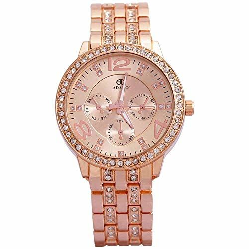 ADAMO Analog Rose Gold Dial Women's Watch-839KKM21