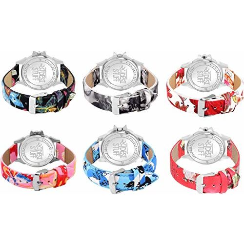 SWADESI STUFF Analogue Women's Watch (Multicolour Dial Multicolour Strap) (Pack of 6)