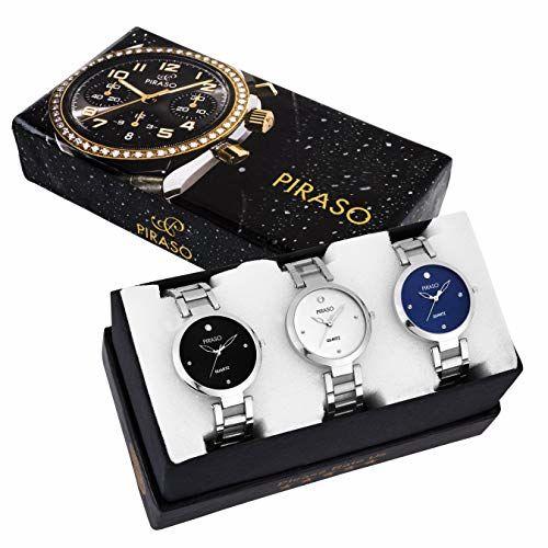 Piraso Analog Black Dial Women's Watch-PW3-2266