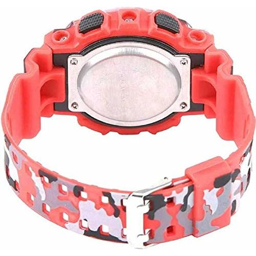 Swadesi Stuff Red Color Army Kids Digital Watch for Boys