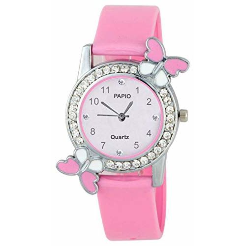 PAPIO Analogue White Dial Pink Color Girl's Watch - DG_BF_Pink