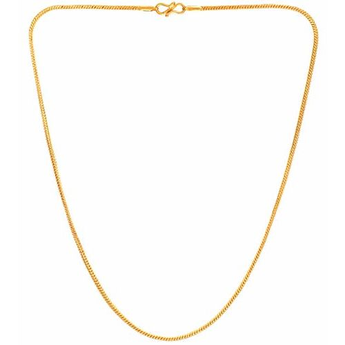 AanyaCentric Gold Plated 22 & 28inches Long 19 & 25grams Necklace Fashion Fancy Jewellery Collection Neck Chain for Men Women Girls Boys