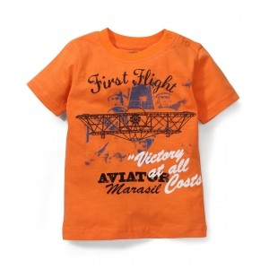 Babyhug Half Sleeves T-Shirt Printed - Orange