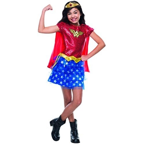 Rubie's Red & Blue Wonder Woman Sequin Costume For Girl
