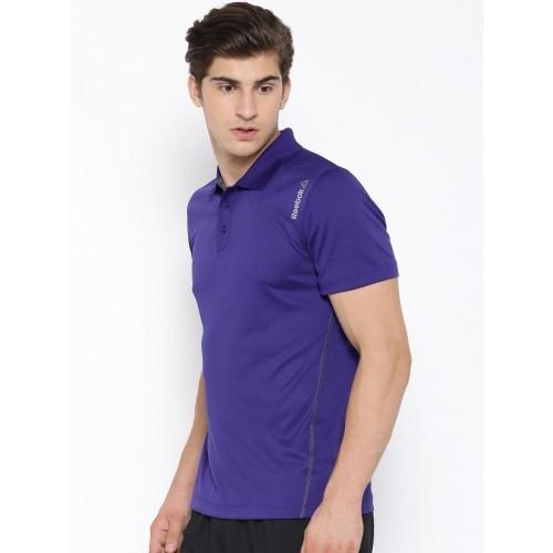 reebok polo shirts purple