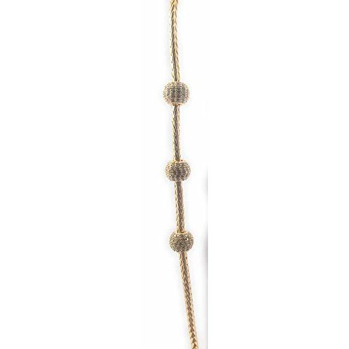 AFJ GOLD One Gram Micro Gold Plated Traditional Designer Mugappu Chain for Women and Girl (24 inch) (LET/MC-111)