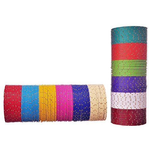 NMII by Jari Pattern Bangle Set for Girls (Multicolor) (P1-2.0)