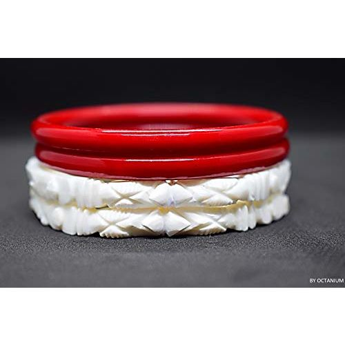 OCTANIUM Traditional HATHI MUKHI SHANKHA Pola Without Joint (2.2)