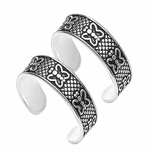 ACPL Precious-Moments 925 Sterling Silver Butterfly Toe-Ring for Women