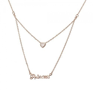 Aaishwarya Love Bling Princess Layered Pendant Necklace/Chain for Women & Girls