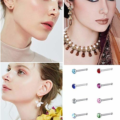 VAMA Fashions Big Nose Stud Pin Rings For Pierced Nose Pins For women