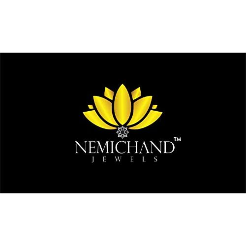 Nemichand Jewels Genuine Silver 925 Rose Nose Pin For Womens and Girls