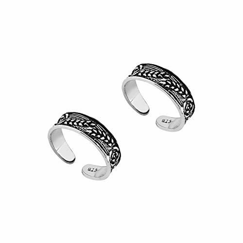 Ananth Jewels 925 Sterling Silver Metal Toe Rings for Women