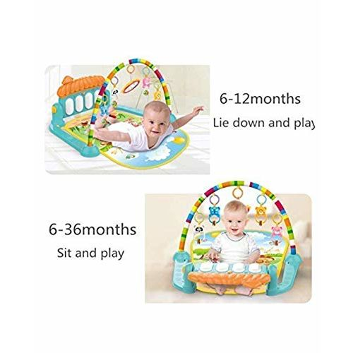 Famous Quality 894ity Ultra Kick and Play Multi-Function ABS Plastic Piano Gym and Fitness Rack for 0-36 Months Baby (Multicolour)