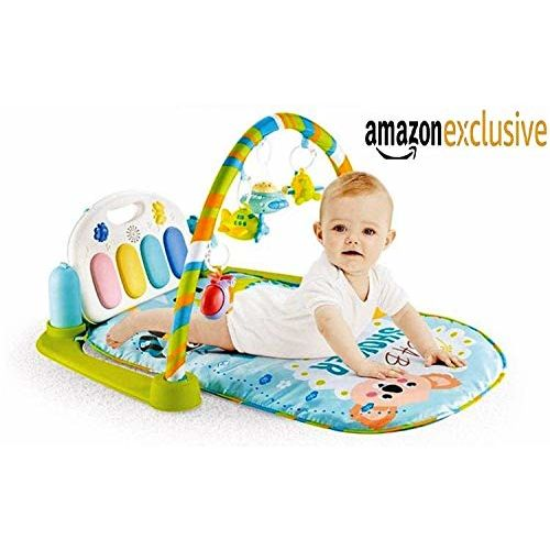 Supreme Deals Baby's 3-in-1 Kick and Play Musical Activity Gym Lay, Sit and Play Mat with Music, Projection Lights and Wireless Remote (Multicolour, Up to 2 Year)