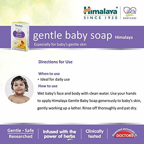 Himalaya Gentle Baby Soap Pack of 6 x 125g