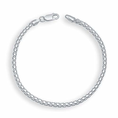 Yellow Chimes 92.5 Sterling Silver Hallmark and Certified Purity Silver Chain Bracelet for Men and Boys
