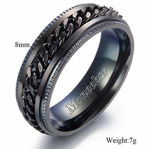 Moneekar Jewels Stainless Steel 8mm Rings for Men (Amazon Exclusive)