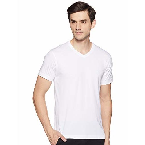 Van Heusen Athleisure 60035 White Cotton Solid Regular Fit T-Shirt