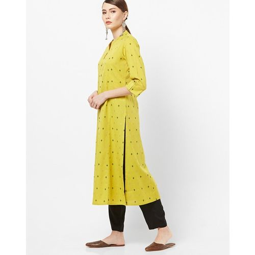 AVAASA MIX N' MATCH Printed Straight Kurta with Mandarin Collar