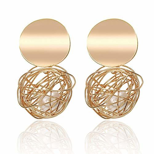 Jewels Galaxy Wonderful Hanging Ball Plushy Drop Earrings For Women/Girls