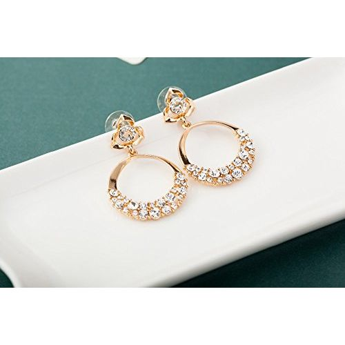 Shining Diva Fashion Stylish Fancy Party Wear Gold Plated Earrings for Women and Girls (9567er)