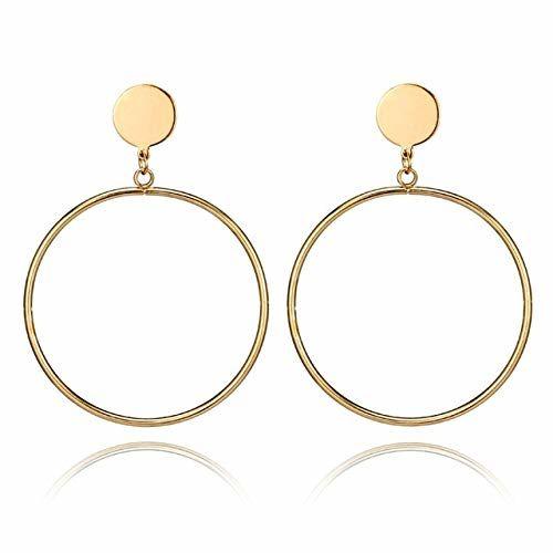 Jewels Galaxy Stylish Circular Design Hoop Earrings For Women/Girls