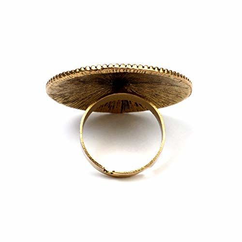A.R. FASHION Antique Oxidised Finger Ring For Women Adjustable