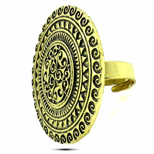 A.R. Fashion Latest Antique Oxidized Adjustable Finger Ring For Women