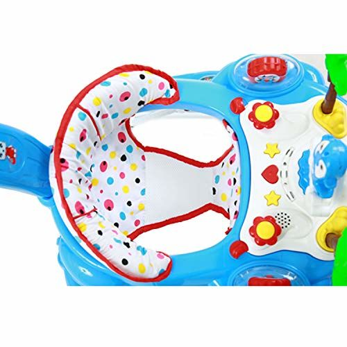 GoodLuck Baybee Round Baby Walker Cum Rocker for Kids with 3 Position Height Adjustable Kids Walker with Parent Control Push Bar Fun Toys & Activities for