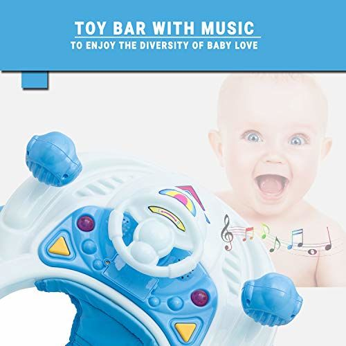 Baybee Winnie Baby Walker Round Kids Walker for Babies Cycle with Adjustable Height and Musical Toy Bar Rattles and Toys Ultra Soft Seat-Activity Walker for Kid