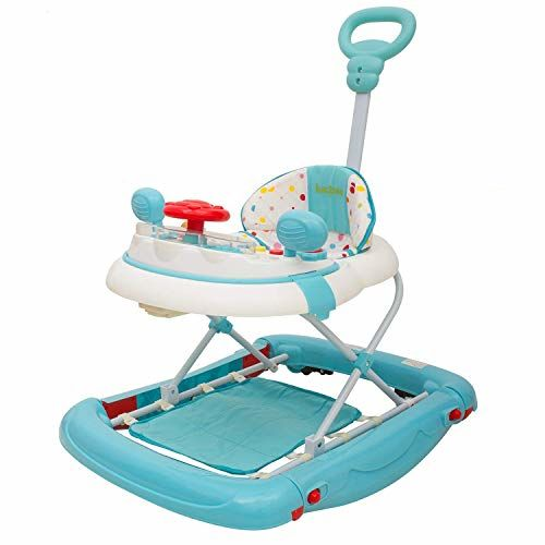 Baybee Enforcer Baby Walker Cum Rocker for Kids Cycle with Adjustable Height and Musical Toy Bar Rattles and Toys Ultra Soft Seat-Activity Walker for Kids Wheel