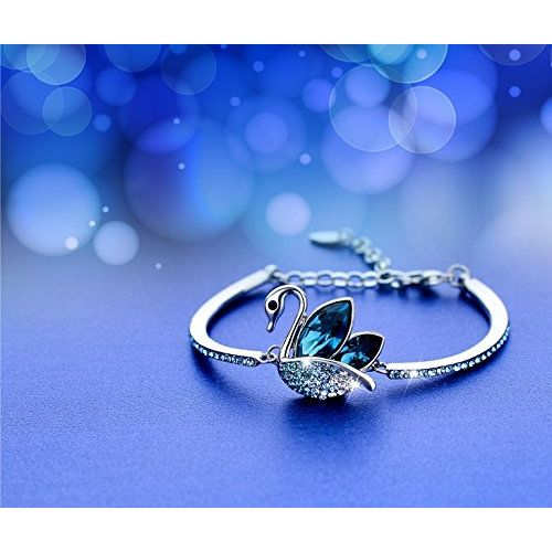 Yellow Chimes Moxie Collection ? Swan Love Designer ? Blue Crystal Kadaa Bracelet for Girls